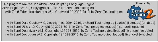 Zend PHP Info