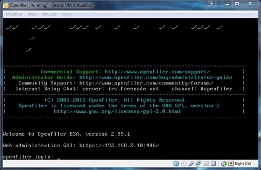 2013-02-25 08_41_29-Openfiler [Running] - Oracle VM VirtualBox