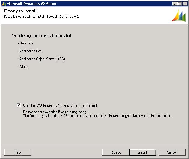 Microsoft Dynamics AX Setup