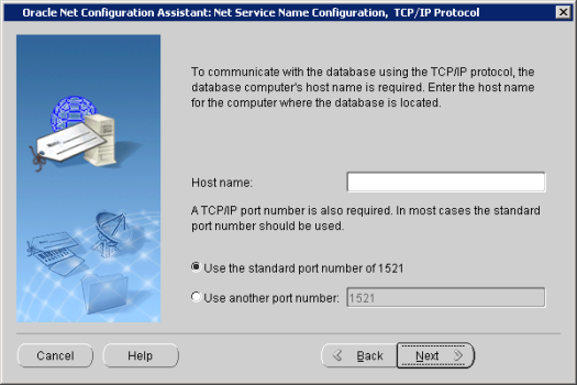 Oracle Net Configuration Assistant_ Net Service Name Configuration,  TCP_IP Prot