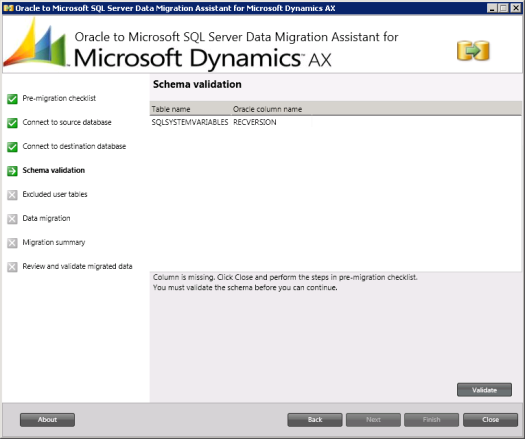Oracle to Microsoft SQL Server Data Migration Assistant for Microsoft Dynamics A