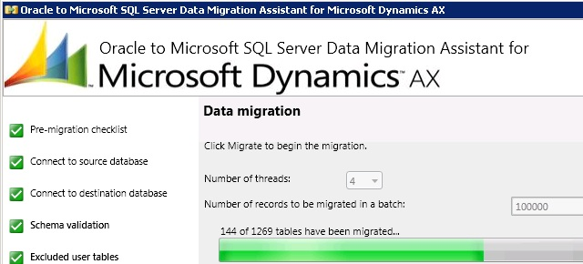 Dynamics AX 2009 Oracle to SQL Server Migration – Page 2 – Martin